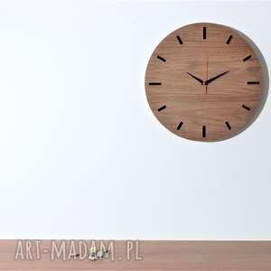 modne zegary zegar 40 cm, ścienny orzech