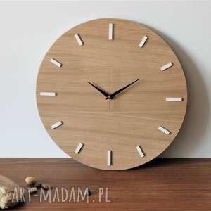 zegary 40 cm, zegar ścienny dąb