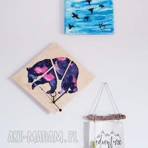 ciekawe zegary zegar ścienny drewno i tkanina