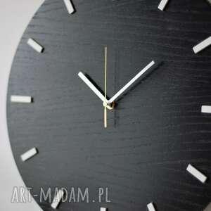 zegary zegar 40 cm, ścienny, czarny