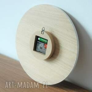 ścienny 40 cm, zegar dąb