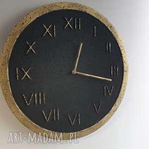 czarne zegary nowoczesny zegar ścienny betonowy handmade