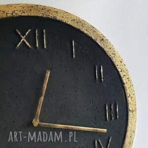 duzy zegar zegary szare ścienny betonowy handmade