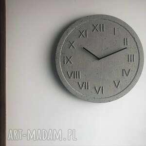 zegary designerski zegar ścienny z betonu handmade