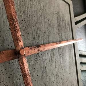 Graycrafters zegary: Zegar Ścienny z Betonu Handmade Betonowy Emperor Duży Kwadratowy 60x60 Miedź do salonu