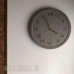 niepowtarzalne zegary zegar do sypialni ścienny betonowy handmade