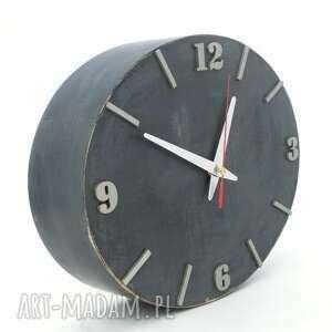 szare zegary prezent zegar ścienny drewniany - szerokość