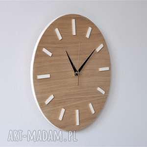 drewniany zegary 30 cm, zegar ścienny dąb