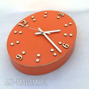 niekonwencjonalne zegary ścienny zegar drewniany - szerokość