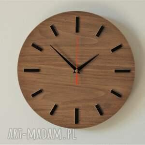 zegary zegar 30 cm, ścienny orzech