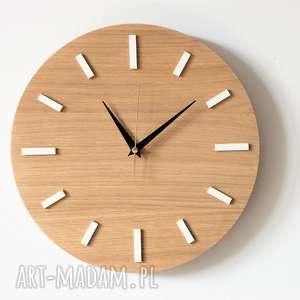 białe zegary zegar prosty i nowoczesny ścienny w stylu