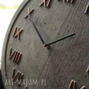 zegar do pokoju ścienny betonowy handmade