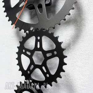 ręcznie wykonane zegary metalowy zegar ścienny saw