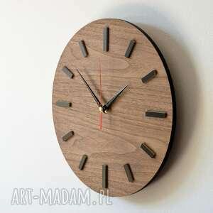 naścianę zegary 30 cm, zegar ścienny orzech