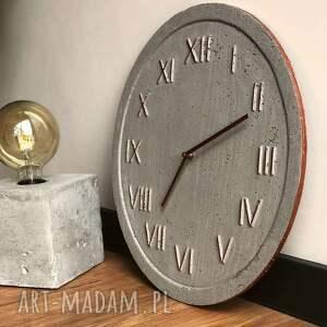 zegary zegar naścienny ścienny betonowy handmade