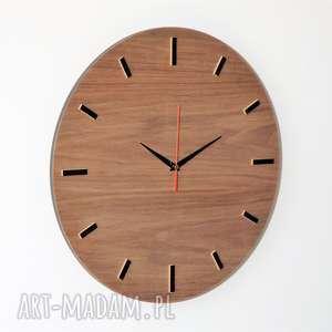 czarne zegary zegar 40 cm, ścienny orzech