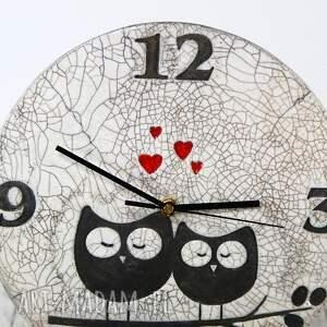 zegary raku ręcznie wykonany zegar naścienny z jasnej gliny