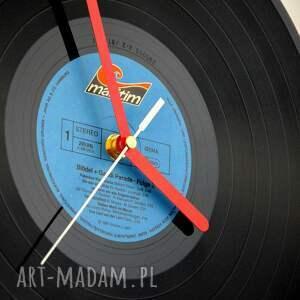 hand made zegary vintage zegar vinyl clock