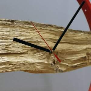 niebanalne zegary drewiany zegar wood red