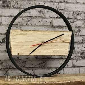 zegary drewiany zegar wood black duży