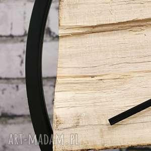 drewiany zegary zegar wood black duży