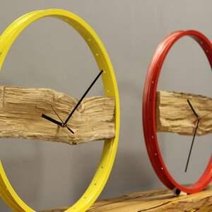 zegary loft zegar wood red