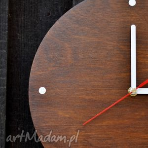 hand-made zegary zegar wood clock palisander 30 cm