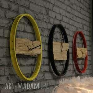 rowerzysta zegary zegar wood yellow