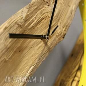 zegary rowerzysta zegar wood yellow