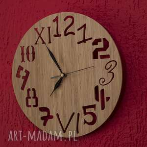 zegary zegar z drewna bambusowego różne