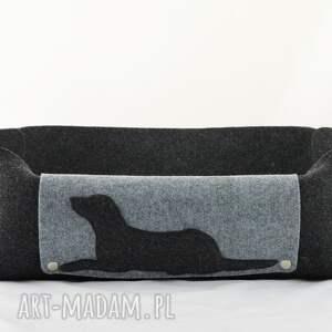handmade zwierzaki filc legowisko dla psa z poduszką