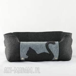 czarne zwierzaki filc legowisko dla kota, posłanie