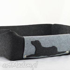 szare zwierzaki filc legowisko dla psa z poduszką